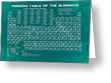 Periodic Table Of Elements In Green Greeting Card