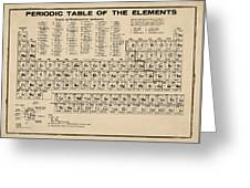 Periodic Table Of Elements In Sepia Greeting Card