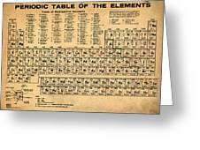 Periodic Table  Of The Elements Greeting Card