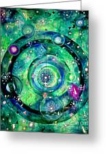 Universe Inside Of Electrons. Periodic Table Of The Elements Greeting Card