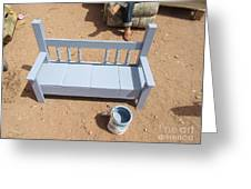 Periwinkle Bench Greeting Card