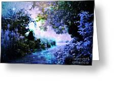 Fantasy Garden Path Periwinkle Greeting Card