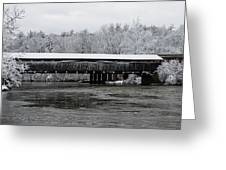 Perrine's Bridge After The Nor'easter Greeting Card