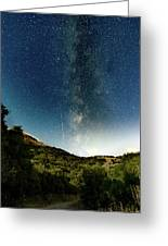 Perseids Meteor Shower  Greeting Card