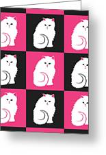 Persian Cat Pattern Greeting Card