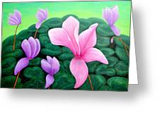 Persian Violet Cyclamen Greeting Card