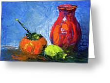 Persimmon And Fijoa Greeting Card