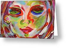 Persistence - Contemporary Art Face Greeting Card
