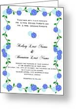 Personalized Wedding Invitations Greeting Card