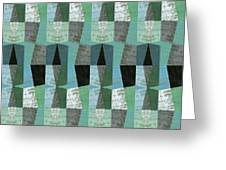 Perspective Compilation With Wood Grain And Teal Greeting Card