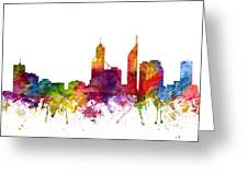 Perth Australia Cityscape 06 Greeting Card