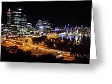 Perth By Night Greeting Card