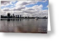 Perth City From South Perth Foreshore  Greeting Card