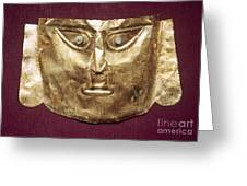 Peru: Chimu Gold Mask Greeting Card