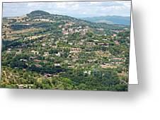 Perugia Countryside Greeting Card
