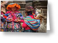 Peruvian Costume Greeting Card
