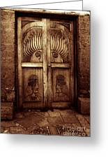 Peruvian Door Decor 11 Greeting Card