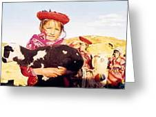 Peruvian Girl Greeting Card