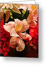 Peruvian Lily Grain Greeting Card by Bill Tiepelman