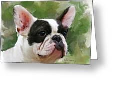 Pet Bulldog Portrait Greeting Card