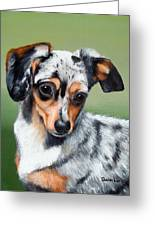 Pet Portrait Painting Commission Any Animal Greeting Card