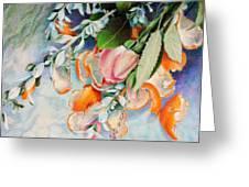 Petals And Peels Greeting Card