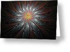 Petals In Pewter Greeting Card