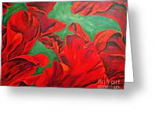 Petals Of Fire Greeting Card