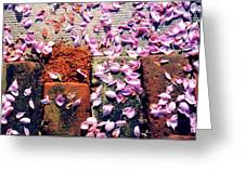 Petals On The Bricks 2 Ae Greeting Card