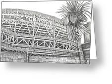 Petco Park Greeting Card by Juliana Dube