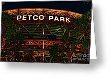 Petco Park Greeting Card by RJ Aguilar