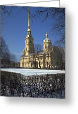 Peter And Paul Cathedral Greeting Card
