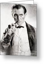 Peter Cushing As Sherlock Holmes Greeting Card