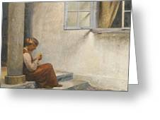 Peter Ilsted Danish, 1861-1933, On The Porch, Liselund Greeting Card