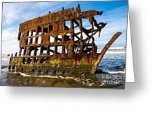 Peter Iredale Shipwreck - Oregon Coast Greeting Card