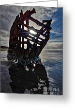 Peter Iredale Shipwreck Greeting Card