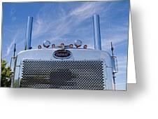 Peterbilt Semi Truck Emblem Greeting Card