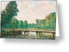 Petit Pont Sur L'orvanne Greeting Card