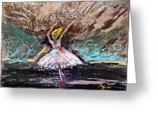 Petite Ballerina Greeting Card