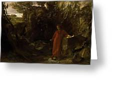 Petrarch By The Fountain Of Vaucluse Greeting Card