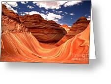 Petrified Dunes Landscape Greeting Card