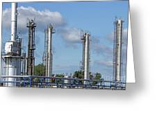 Petrochemical Plant Refinery Industry Zone Greeting Card