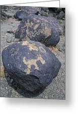 Petroglyphs By Hohokam People, Circa Greeting Card