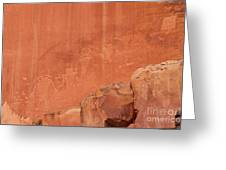 Petroglyphs In Capital Reef Greeting Card