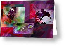 Petunia Collage Greeting Card