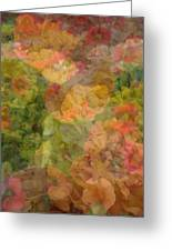 Petunias And Lantana Collage Greeting Card