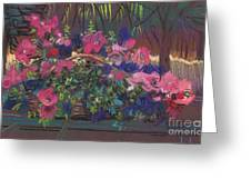 A Basket Of Petunias Greeting Card