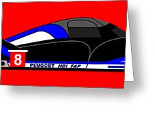 Peugeot 908 Hdi Sat - No. 8 Greeting Card