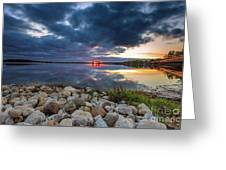 Pewaukee Lake Trail Greeting Card
