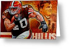 Peyton Hillis Greeting Card by Jim Wetherington